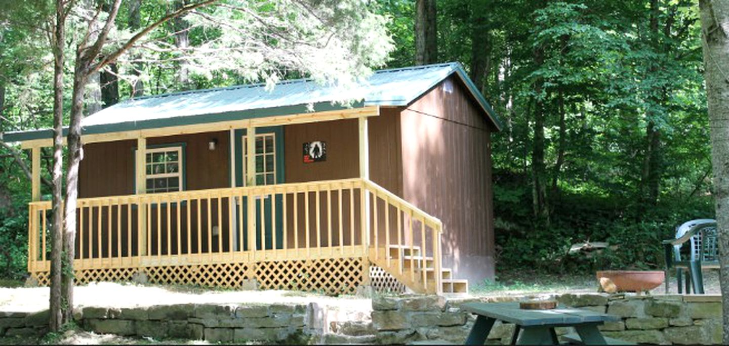 Rustic Camping Cabin Rental near Knoxville  (Briceville, Tennessee, United States)