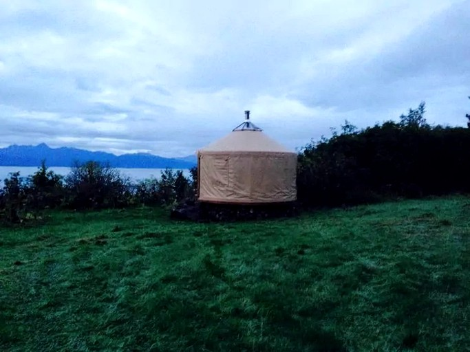 Unique Yurt Camping Rental with Glacier and Mountain Views in Homer, on map of kilcher homestead map, kilcher homestead aerial map, otto kilcher homestead map, homer alaska map, atz kilcher homestead map,