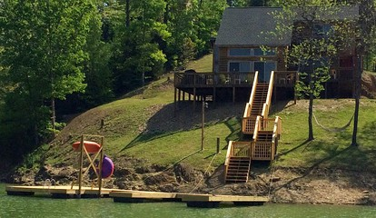 Lakeside Cabin Rental with a Large Private Dock near Sevierville, Tennessee