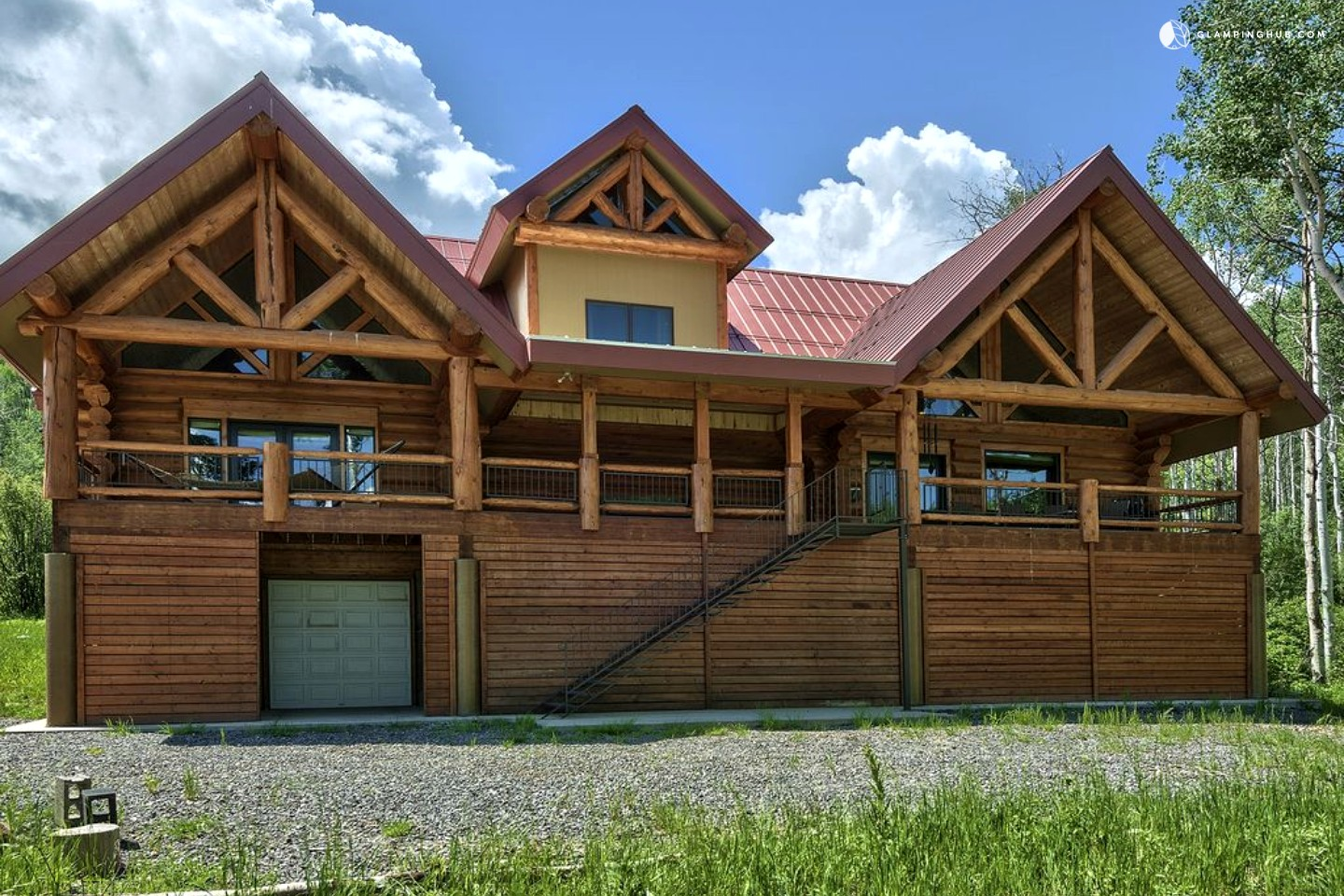 Luxury rental on vega lake colorado for Large luxury log homes