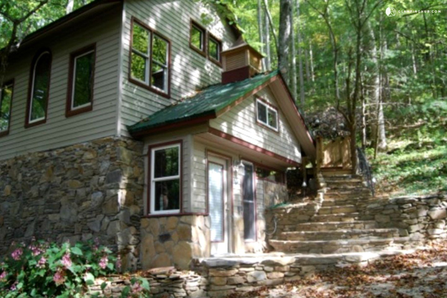 Eco friendly cabin rental in the smoky mountains north for Cabin rental smokey mountains