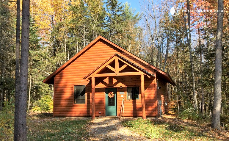 Log cabin rental in ripton vermont for Vermont mountain cabins