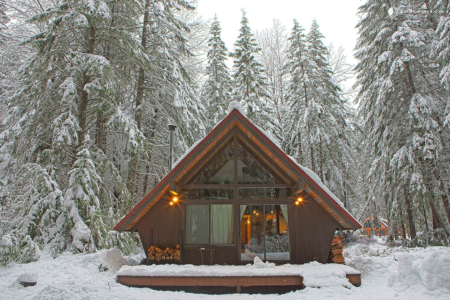 A frame cabin near tacoma for Luxury winter cabins