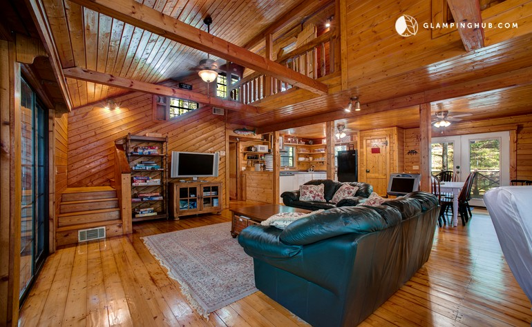 luxury cabin in ellijay georgia. Black Bedroom Furniture Sets. Home Design Ideas