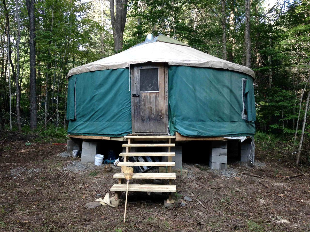 Luxury yurt camping rental in Vermont