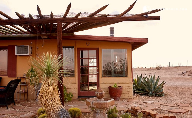 modern steel organic homesteadmodern palm each finish applied homestead lifestyle tree joshua gives rustic cabins desert cabin architecture and apple springs to retreat this patina into vinegar high taps raw