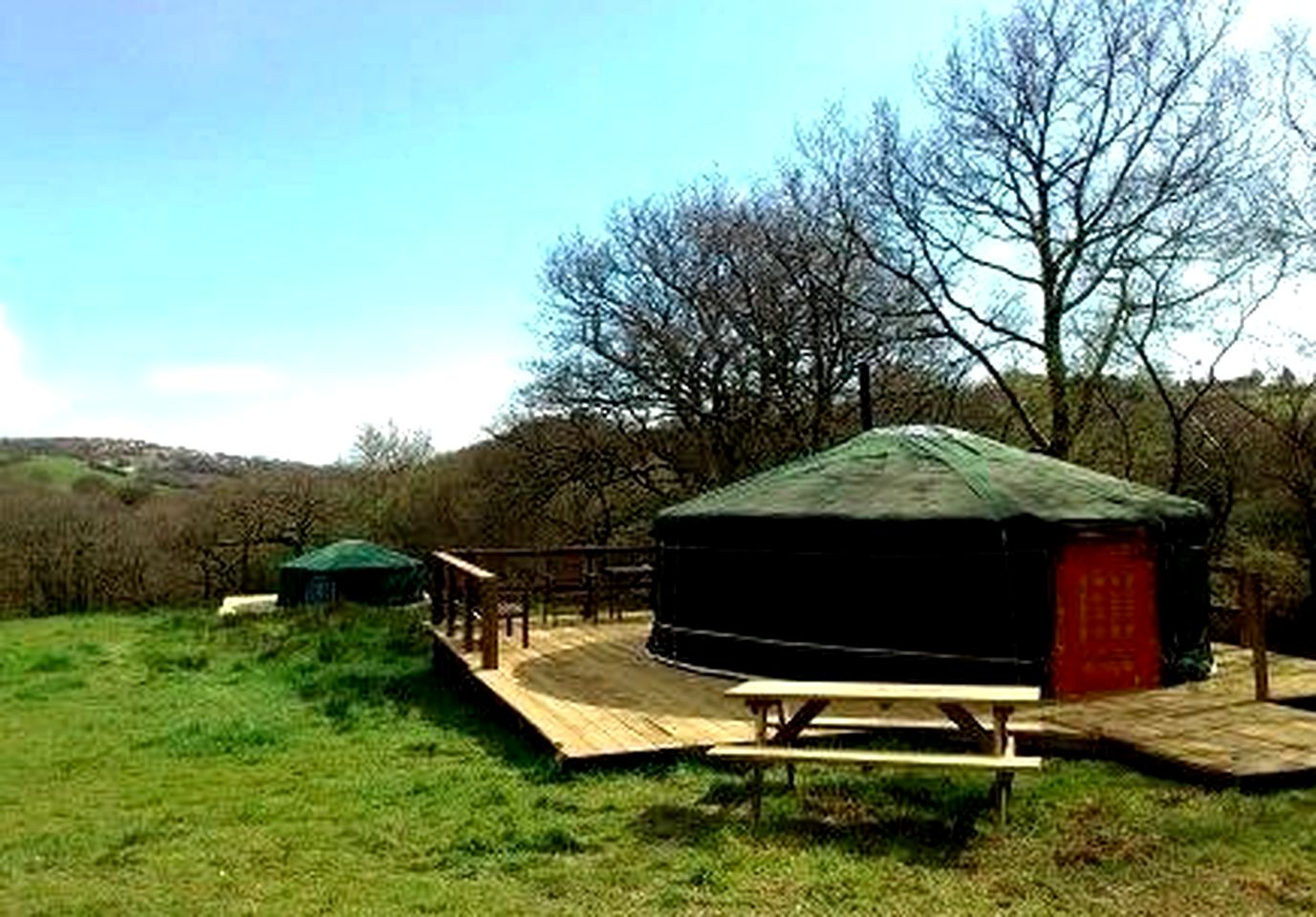 Yurts in Wales for glamping!