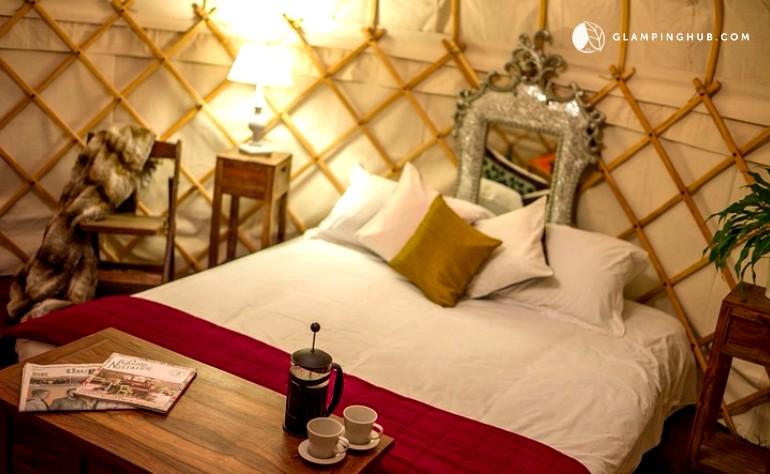 luxury yurt rentals in the uk