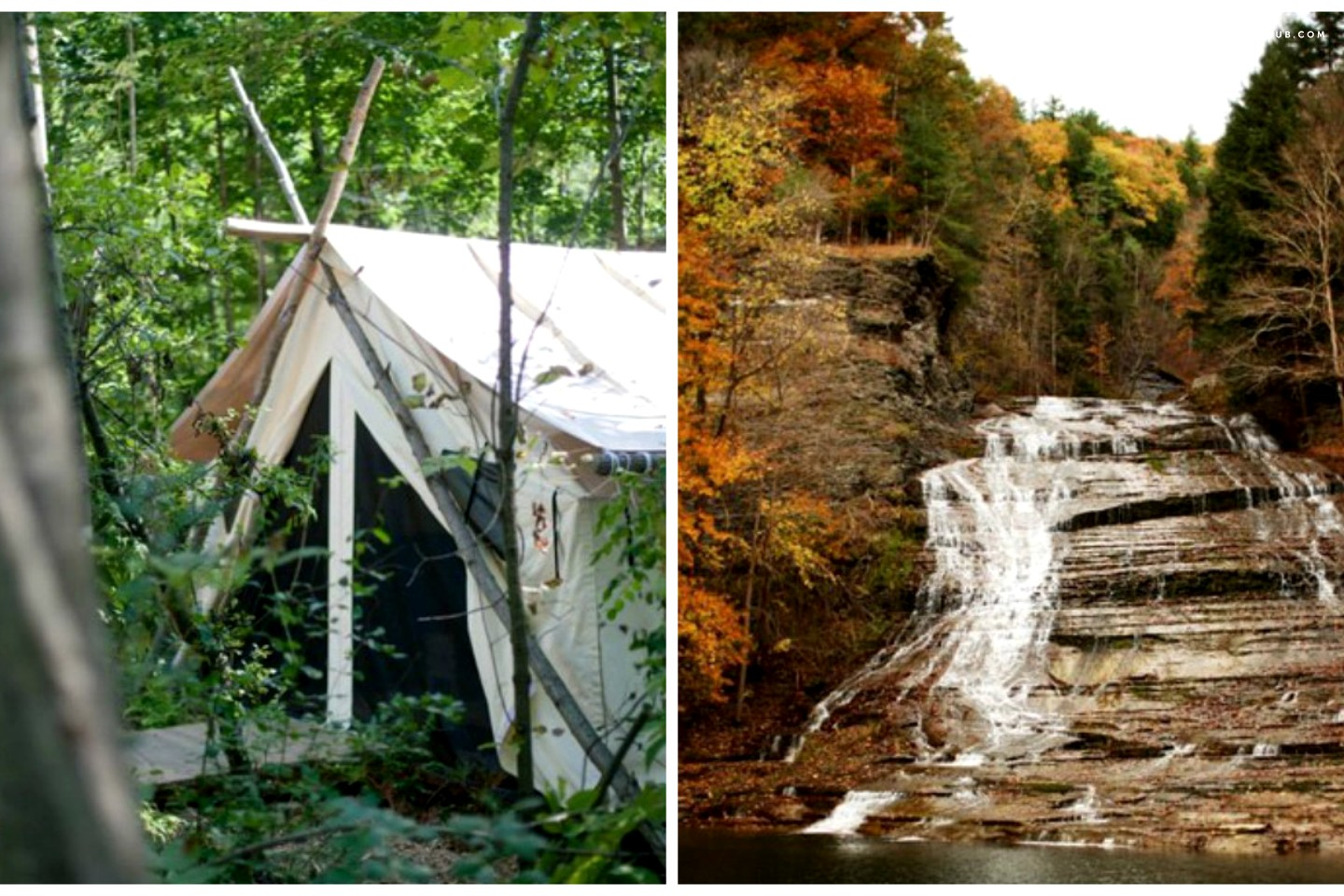 camping glamping upstate york best places