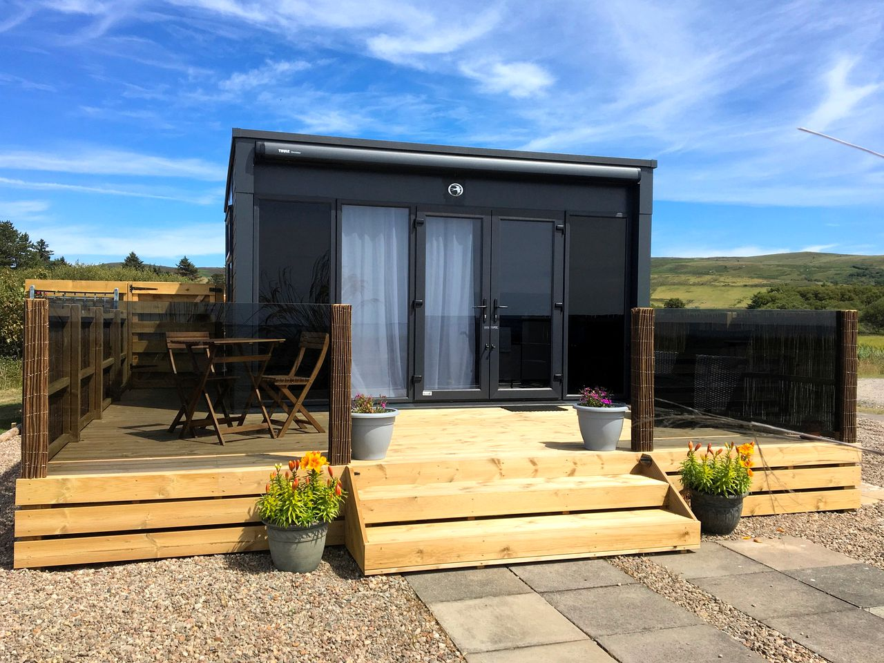 Tiny house rental with hot tub in Argyll, Scotland.