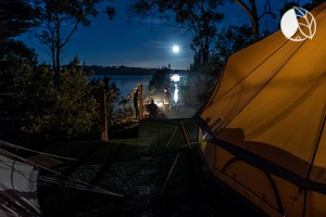 Photo of Luxury Vintage Bell Tents on Tamar River near George Town, North East Tasmania