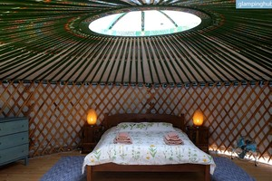 Luxury Yurt for Two at Organic Farmstay and Yoga Retreat in Andalusia, Spain
