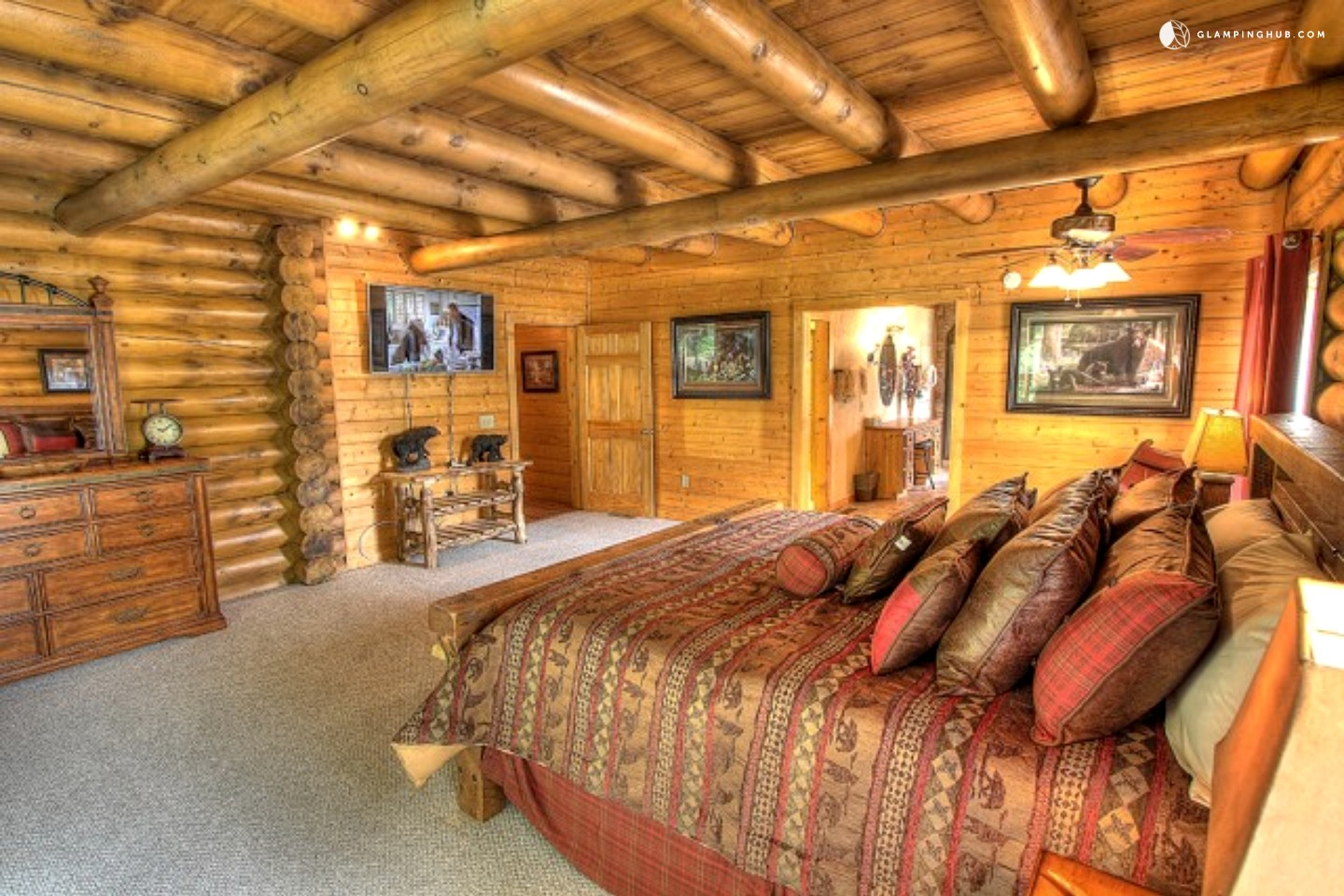 Luxury cabin rental near the great smoky mountains for Luxury pet friendly cabins pigeon forge