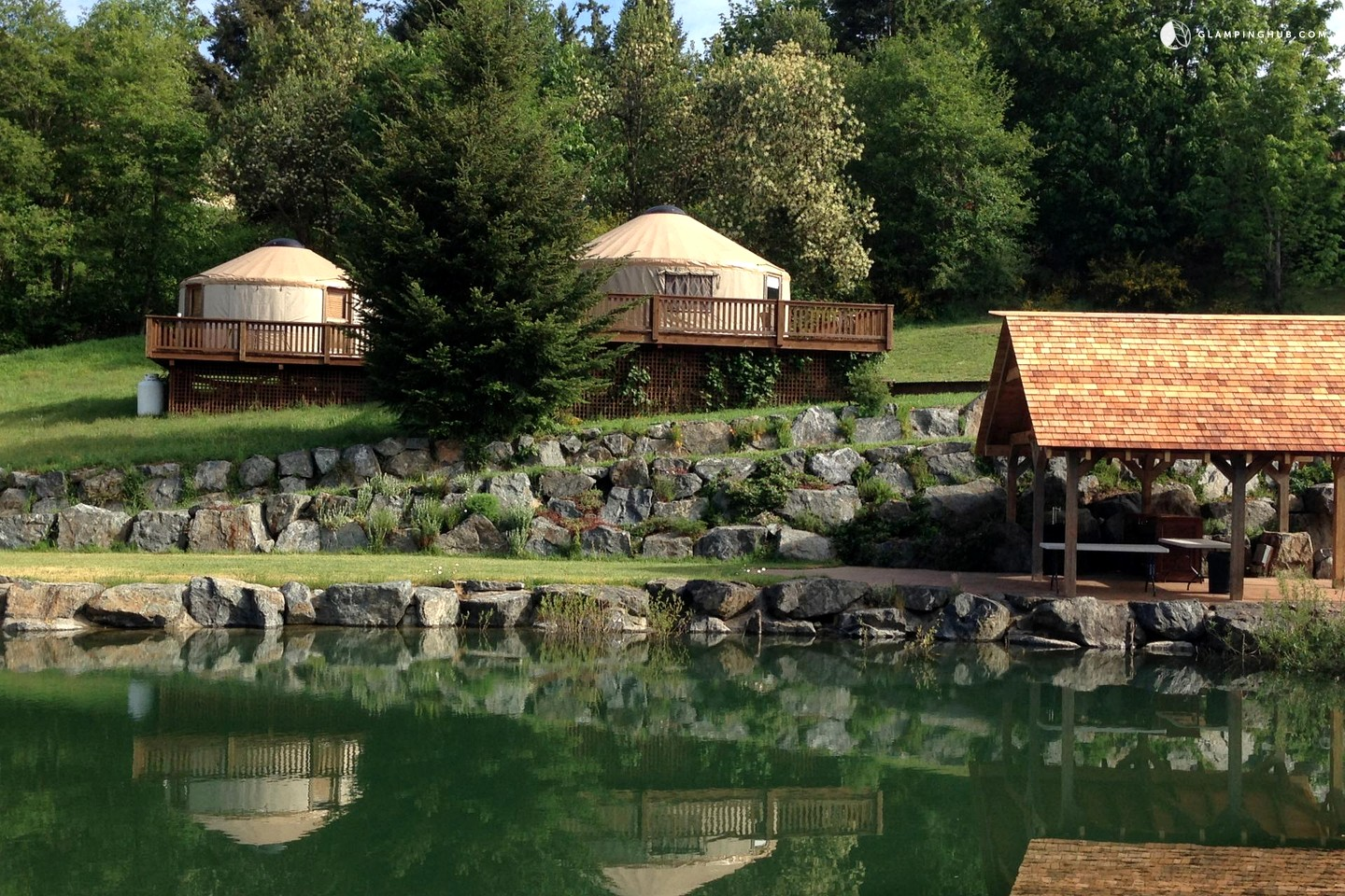 Couples Yurt Rental In Vancouver Island