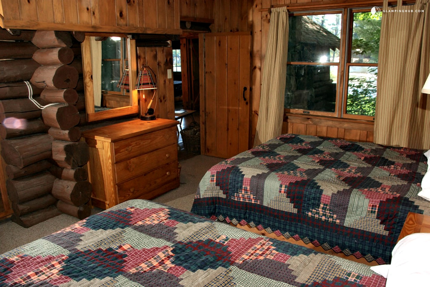 Log Cabin Rental Near Albany. Full resolution  portrait, nominally Width 1440 Height 960 pixels, portrait with #9E5E2D.