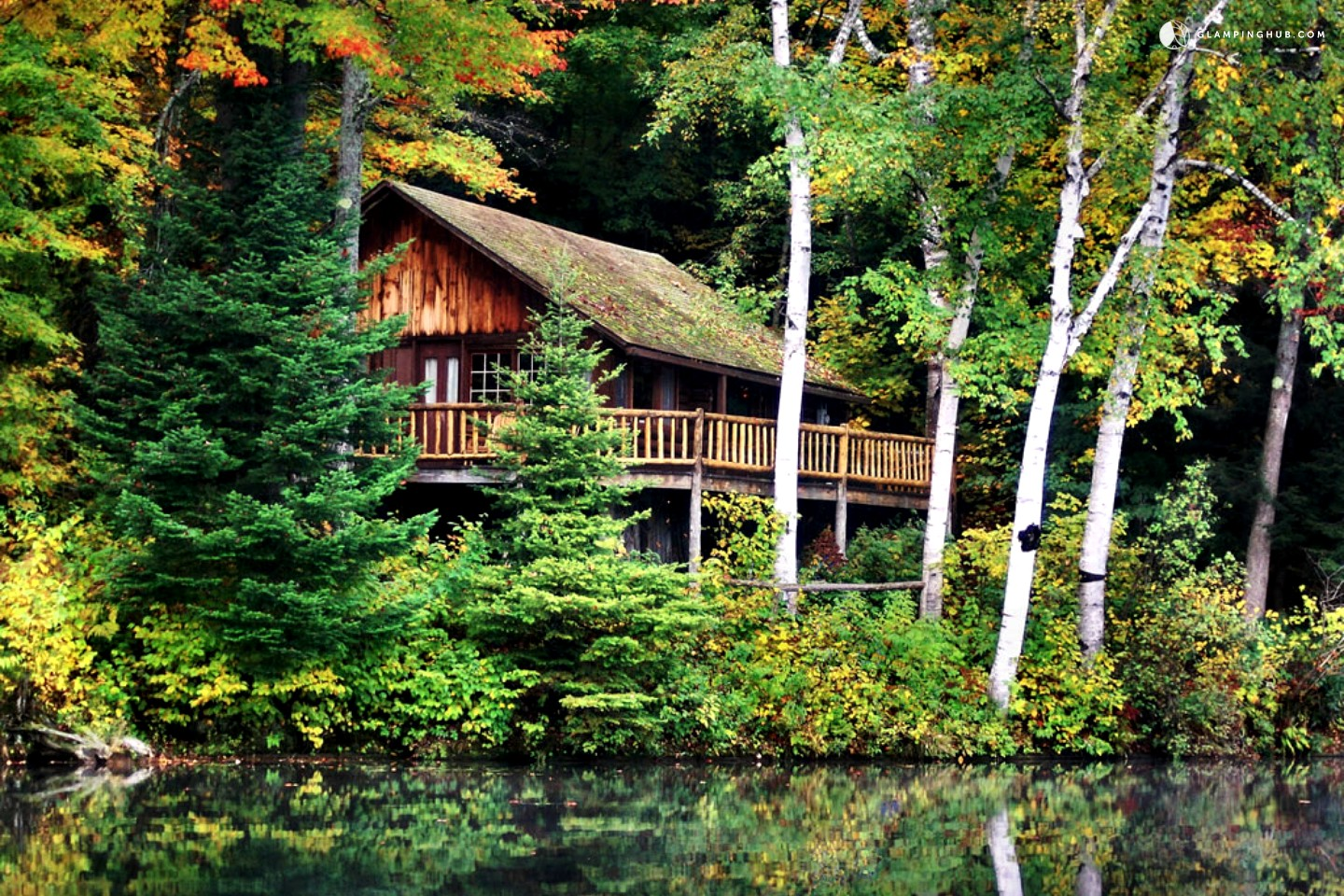 Log cabin rental near saratoga for Camps and cottages