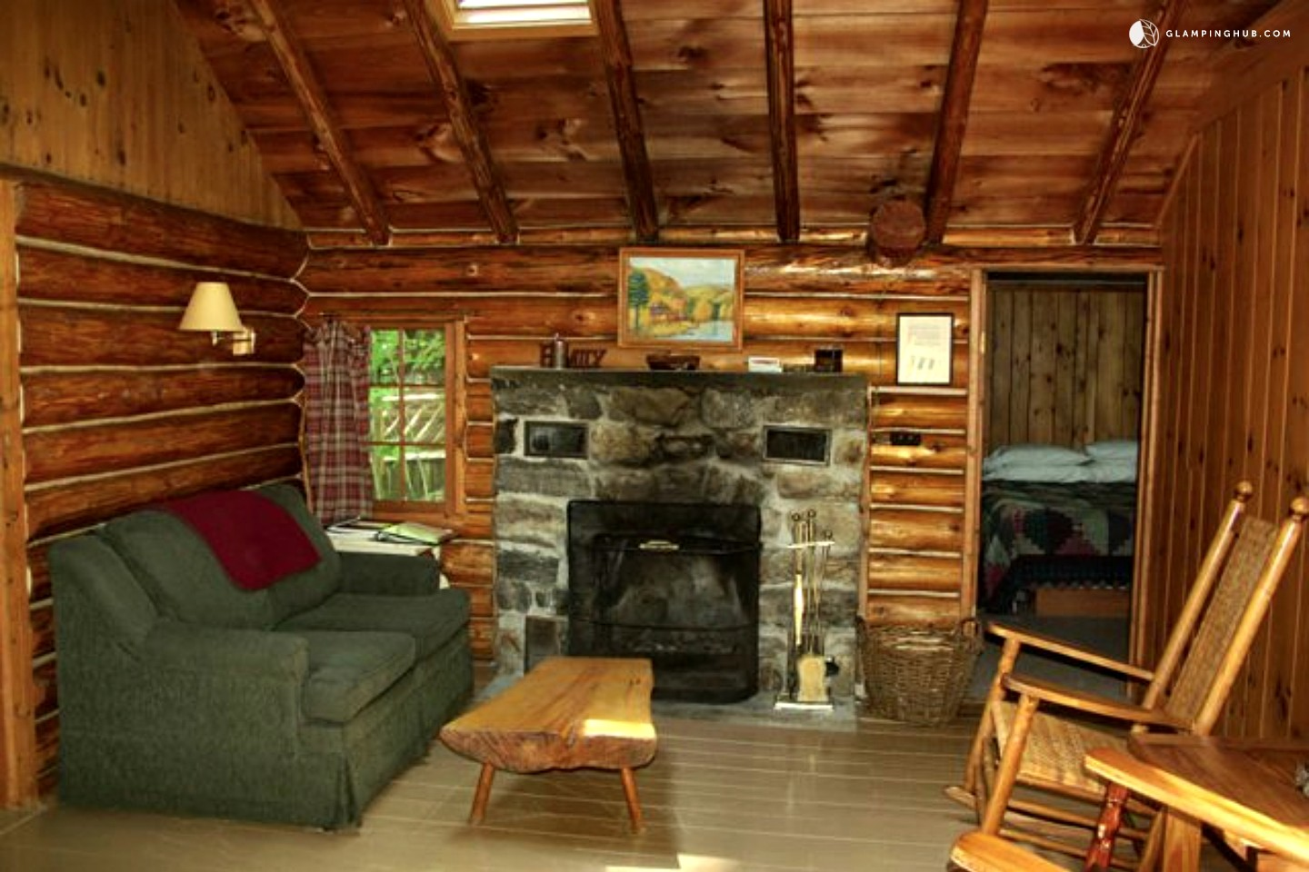 Log Cabin Rental Near Albany. Full resolution  portrait, nominally Width 1440 Height 960 pixels, portrait with #BA8211.