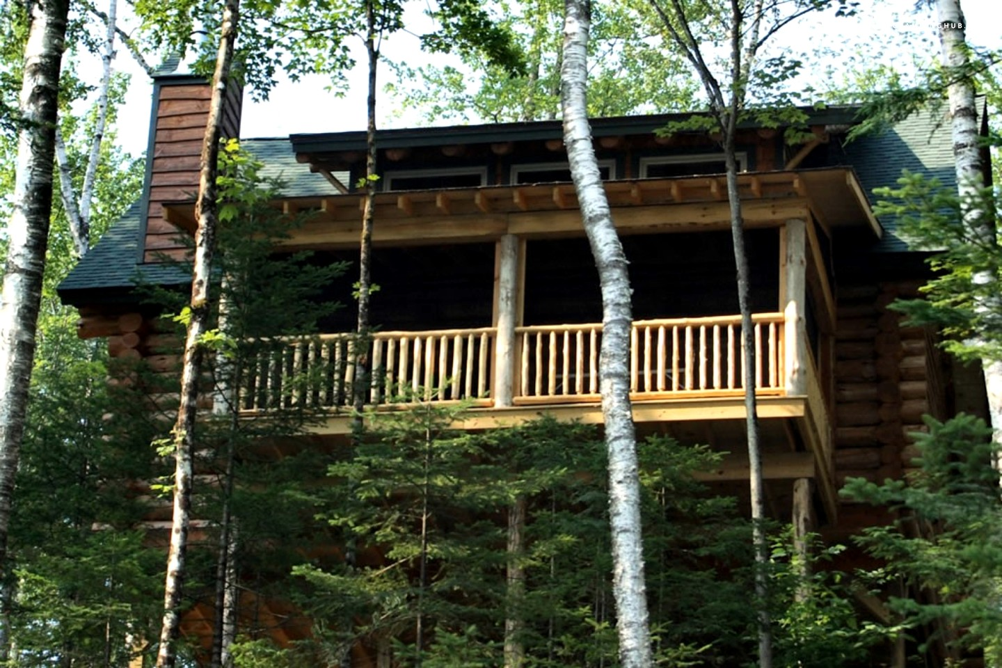 Log Cabin Rental Near Lake Placid. Full resolution  portrait, nominally Width 1440 Height 960 pixels, portrait with #928539.