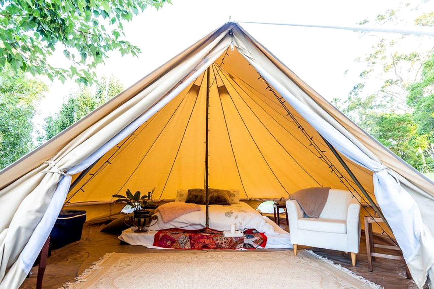Romantic Camping near Bermagui, New South Wales