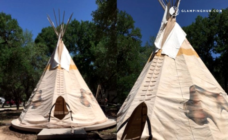 & Tipi in Canyon Lake Texas