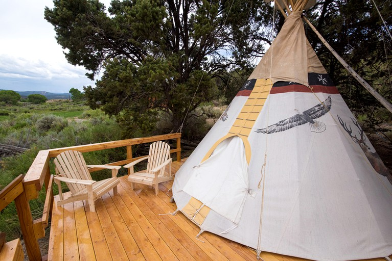 reputable site 47423 458ec Traditional Native American Tipi in Scenic Canyon Country, Utah