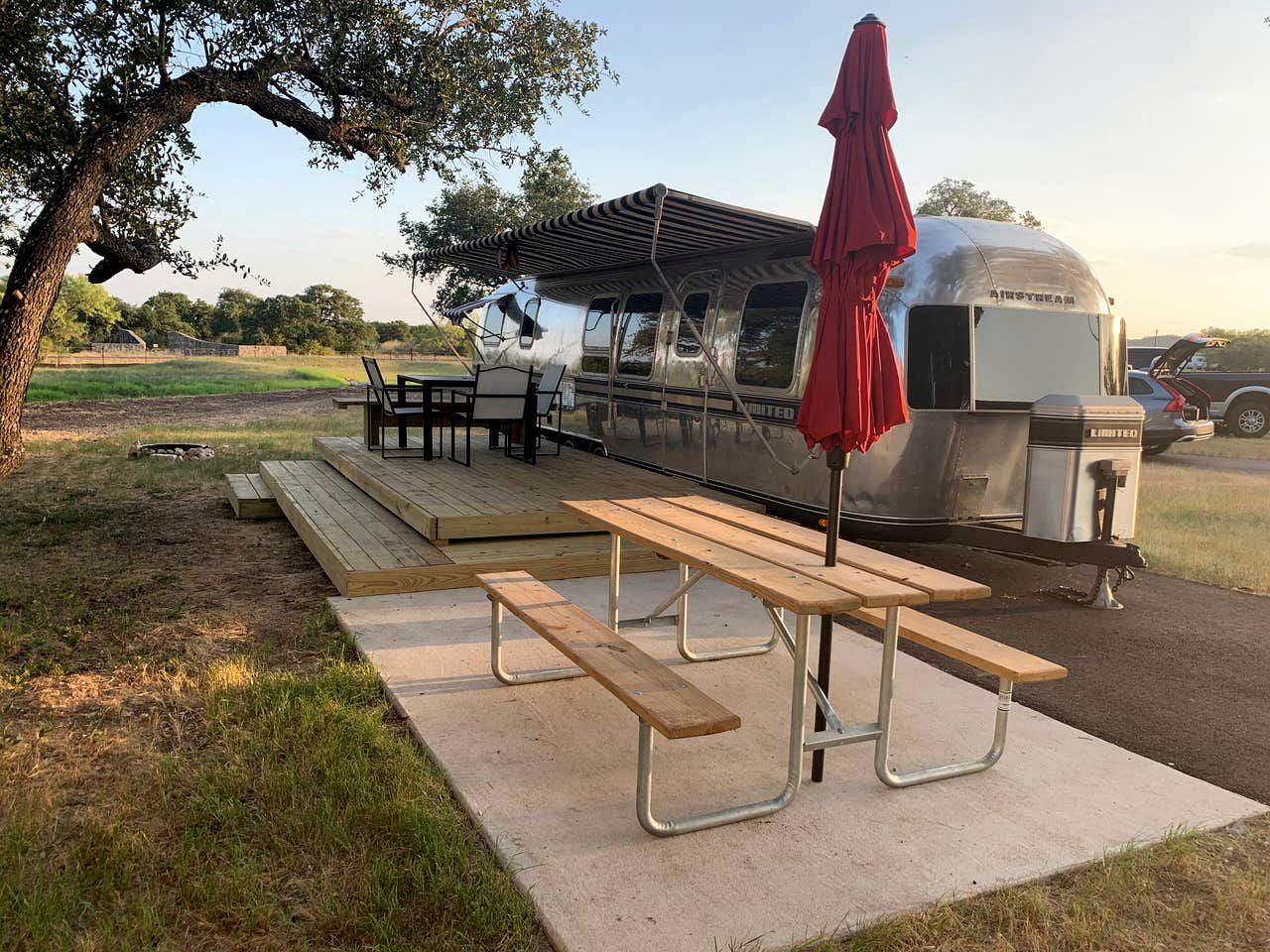 Take a luxury camping trip near Austin and stay in this fully renovated vintage airstream rental.