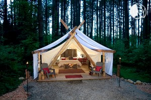 Safari Tents & Glamping Sites in Whidbey Island Washington Pacific West United ...