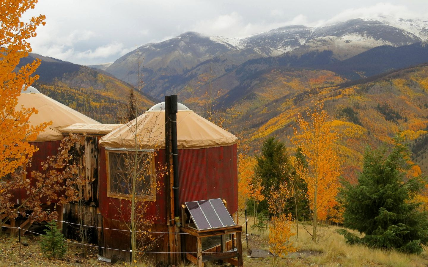 Yurts (Creede, Colorado, United States)