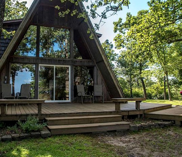 Secluded A Frame Cabin With Incredible Views Near Mountain Fork River In Oklahoma
