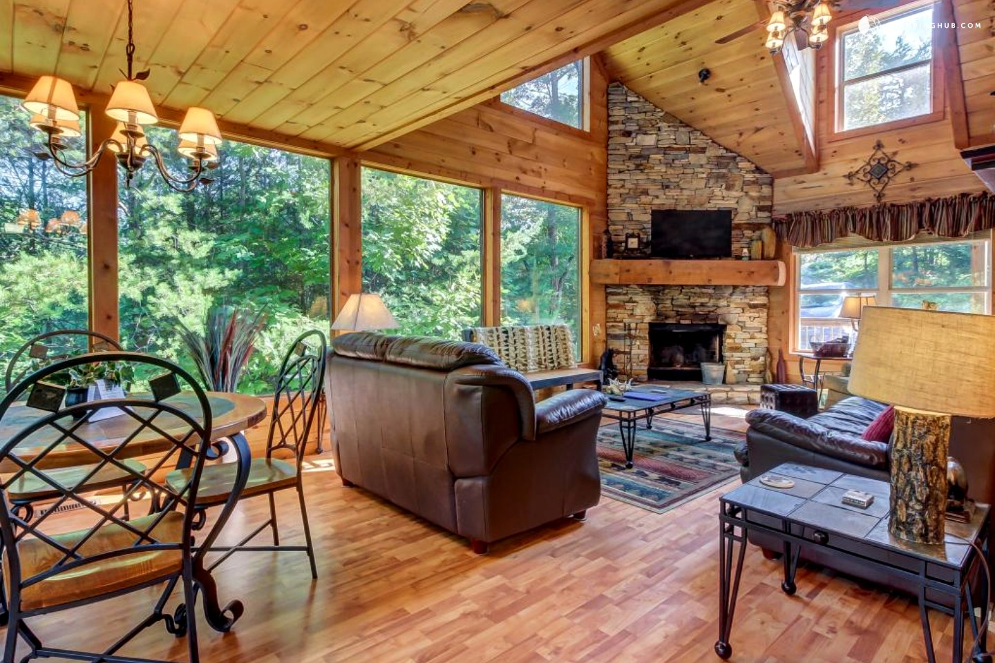 Pet friendly cabin in sautee nacoochee georgia - 8 bedroom cabins in north georgia ...