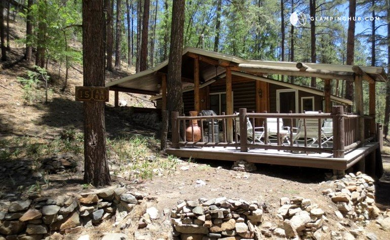 cabin uniquely cabins far decorated from ranch the pioneers prescott and to well each lodging comfortable accommodations our guests full juniper of delight amenities is