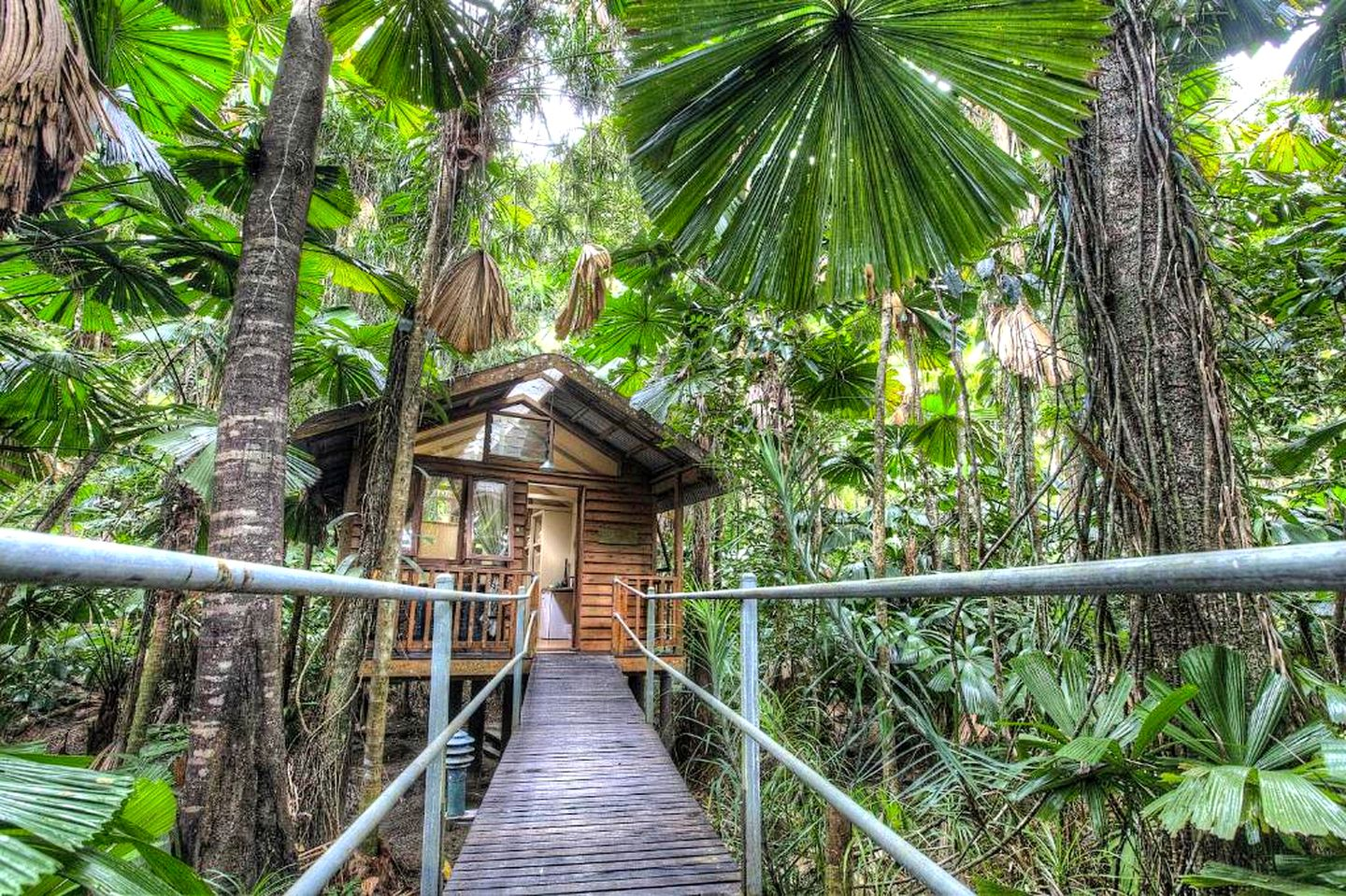 This Daintree accommodation is the ideal romantic getaway in Queensland. Holiday homes don't get any closer to nature than this!