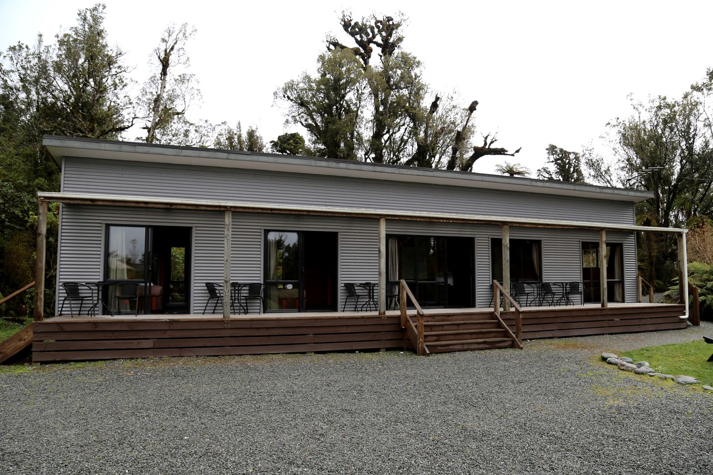 Exterior of Franz Josef accommodation in New Zealand
