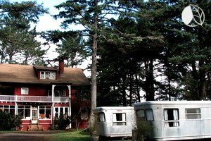 Photo of Restored Vintage Trailers Near Beach in Seaview, Washington