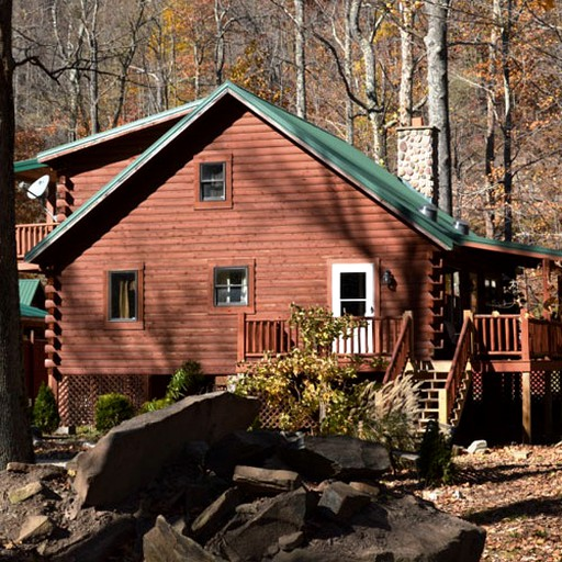 Riverside Cabin Rental With A Hot Tub On Shavers Creek In Bowden West Virginia