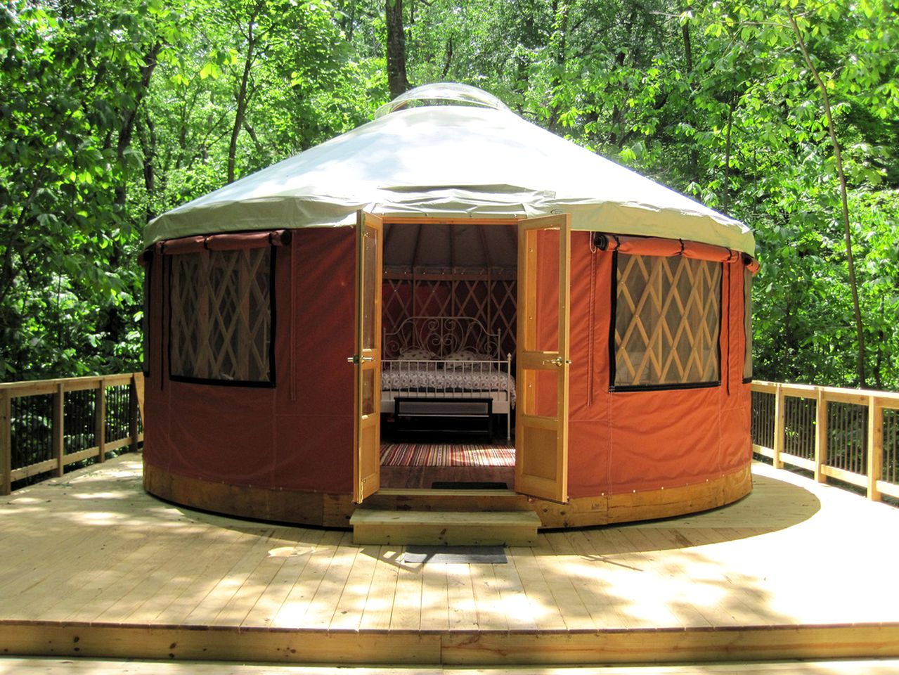 Stay in a yurt! Virginia glamping accommodations