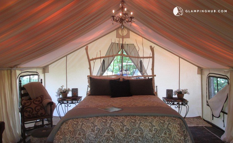 Couples 39 tent rental near asheville north carolina for Boutique getaways