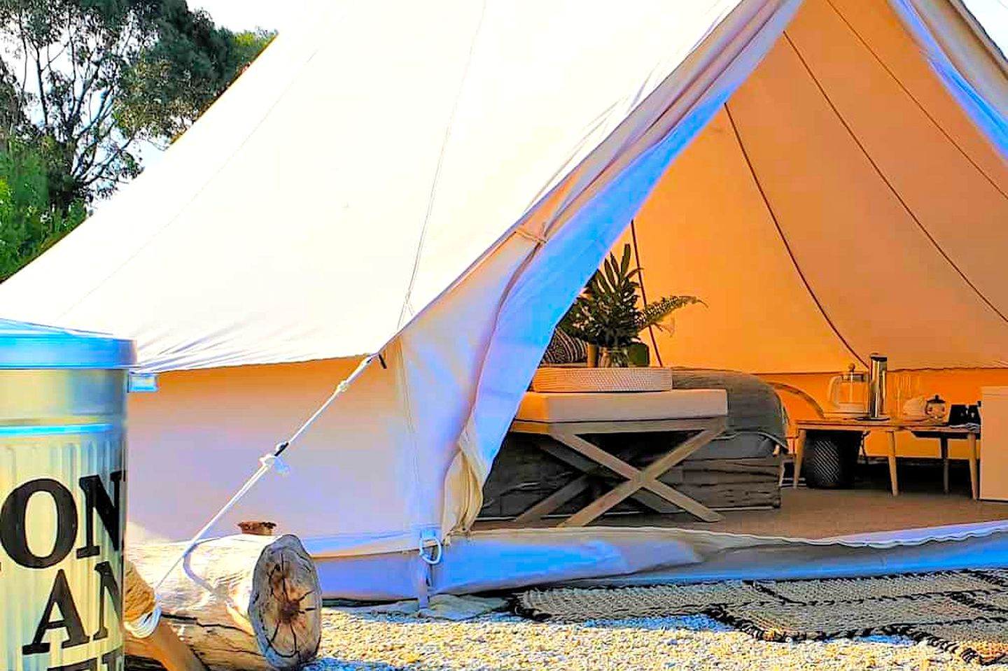 Bell tent rental for a relaxing couple's retreat, Victoria