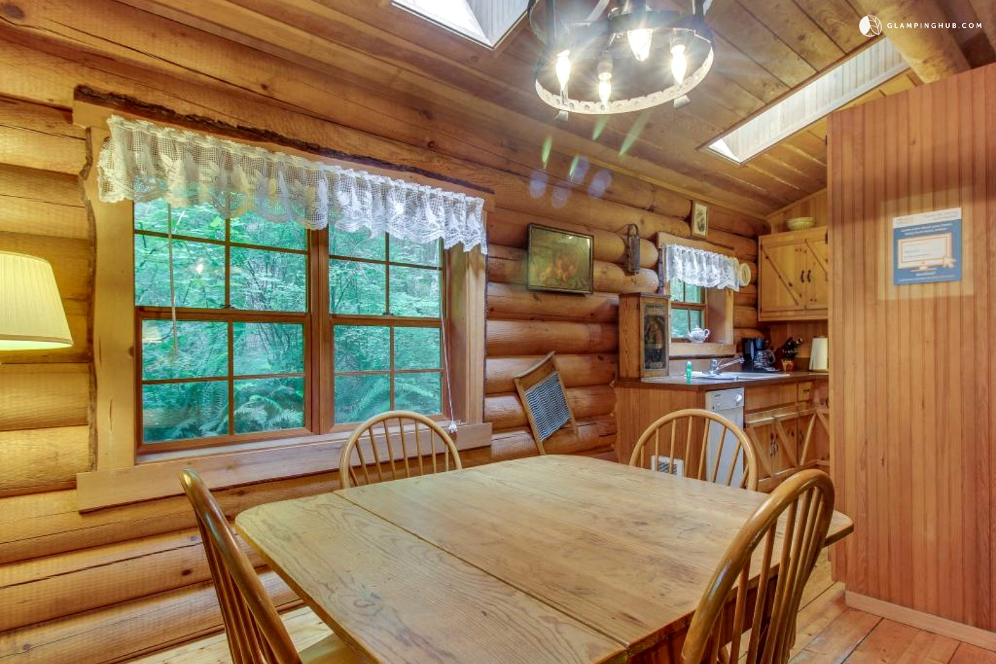 Romantic cabin near deception pass state park at whidbey for Washington state park cabins