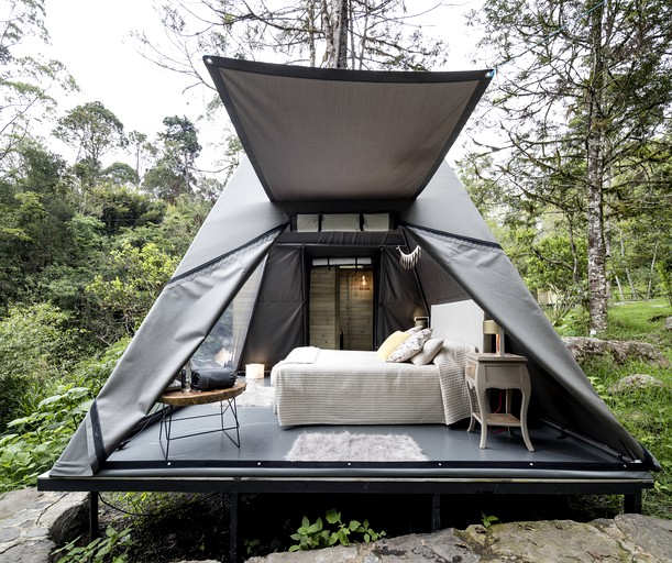 Romantic Glamping Tented Cabin For Weekend Getaway From Bogota Colombia