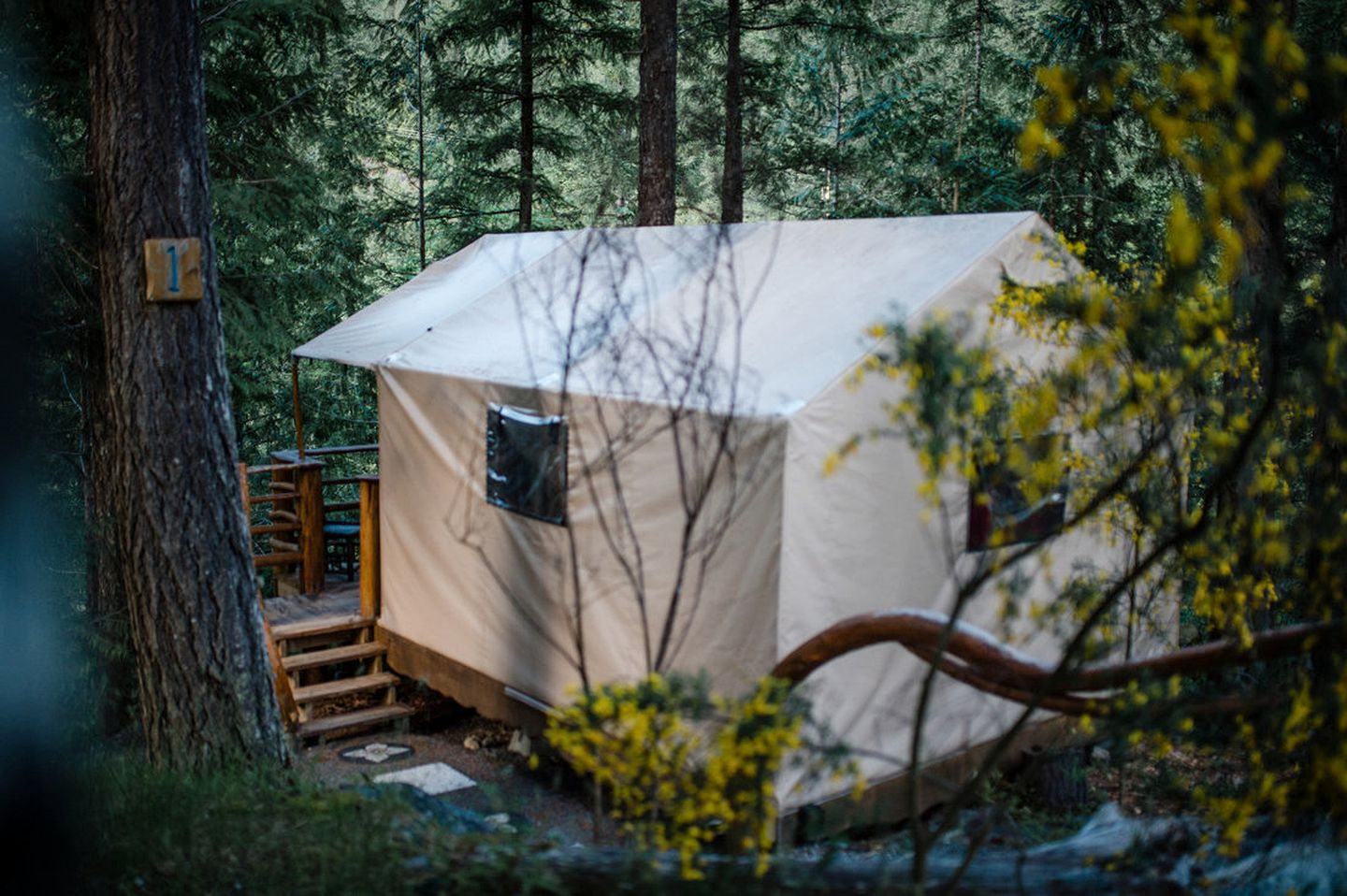 Romantic Safari Tent for Two on Sunshine Coast (Madeira Park, British Columbia, Canada)