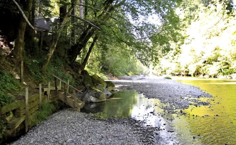 Rental cabin on creek near forestville california for Russian river cabins
