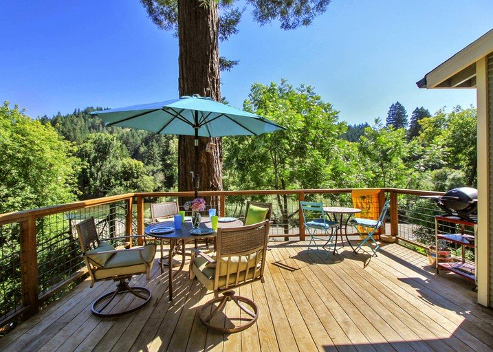 Idyllic Vacation Cottage Rental with Hot Tub on Russian River in Northern  California
