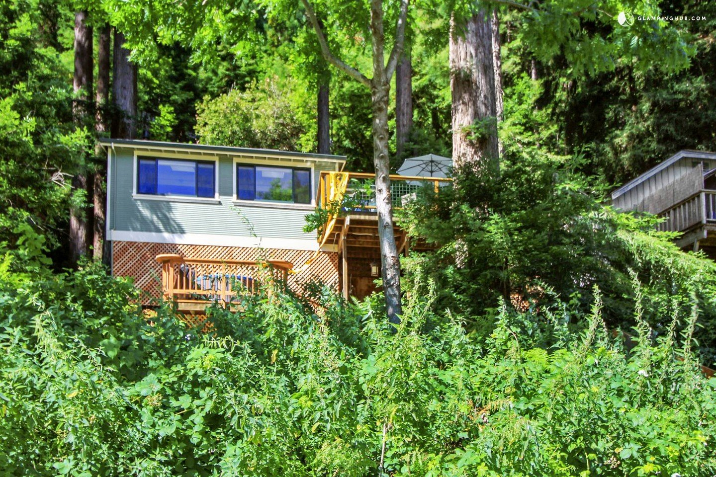 Vacation cottage rental on russian river northern california for Russian river cabins