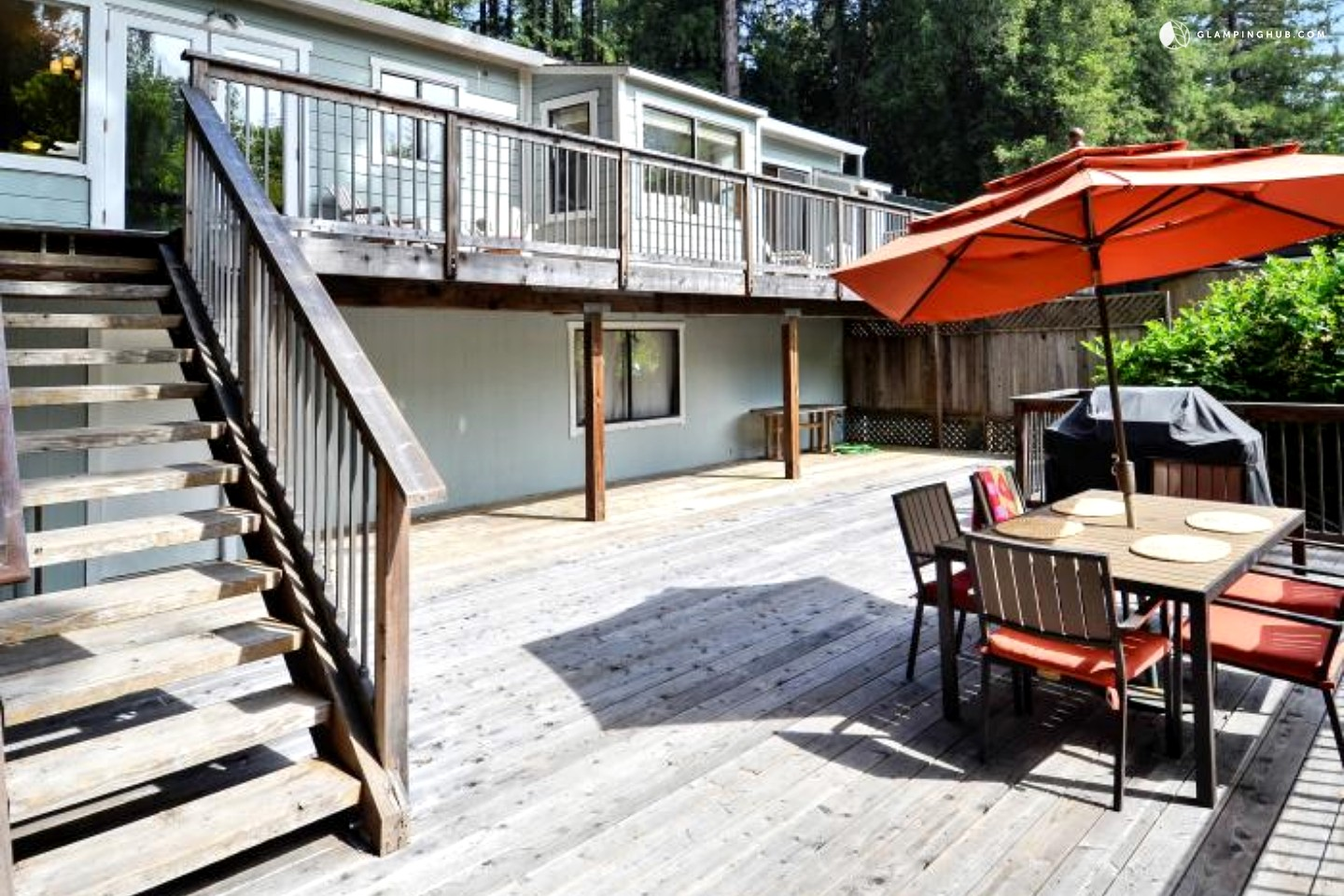 Redwood Cabin On Russian River In Guerneville, California
