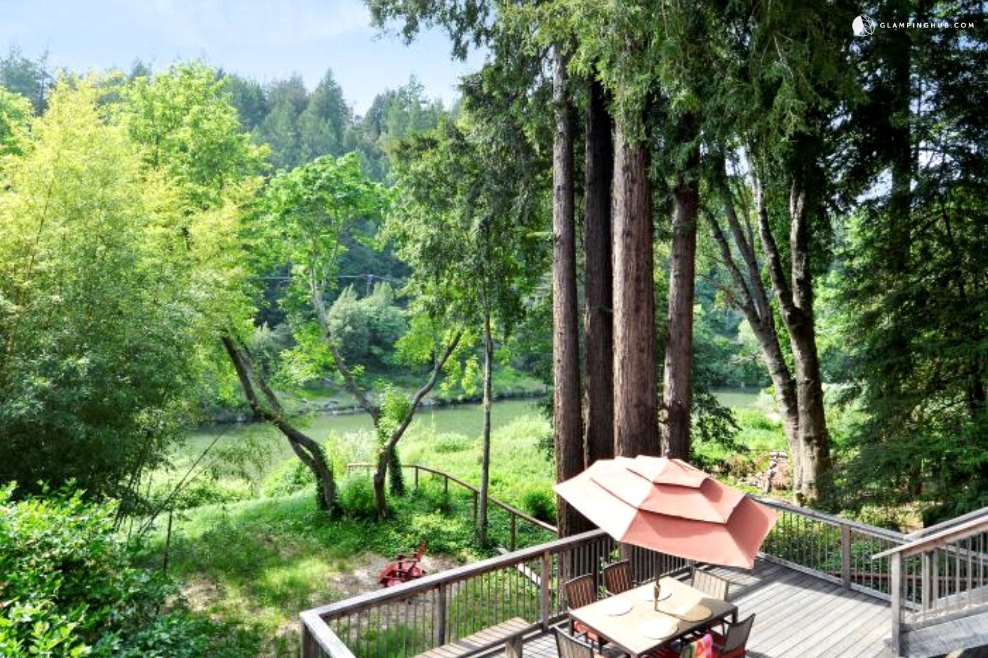Redwood cabin on russian river in guerneville california for Russian river cabins guerneville