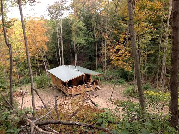 Rustic Creekside Cabin On 100 Acre Forest Near Letchworth Park New York