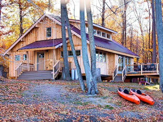 Rustic Family Cabin Rental On A Secluded Island Near Ann Arbor Michigan