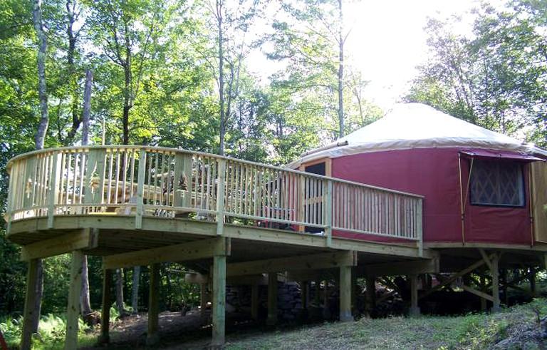 Rustic Glamping Yurt in Willowemoc Wild Forest, New York