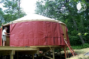 Photo of Rustic Glamping Yurt in Willowemoc Wild Forest, New York